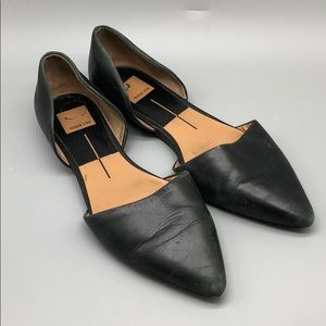 Dolce Vita pointy toe d'Orsay leather flats